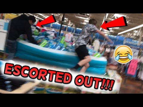 """FUNNIEST """"THE FLOOR IS LAVA"""" CHALLENGES IN PUBLIC (Store Vlog #17)"""