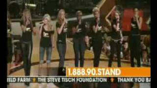 Just Stand Up For Cancer Rihanna Beyonce Leona Lewis Miley Cyrus Ciara Mariah Carey Fergie Lyrics