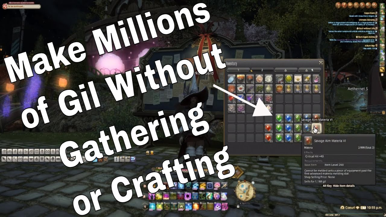 Patch 4 5: How to Make Gil in FFXIV