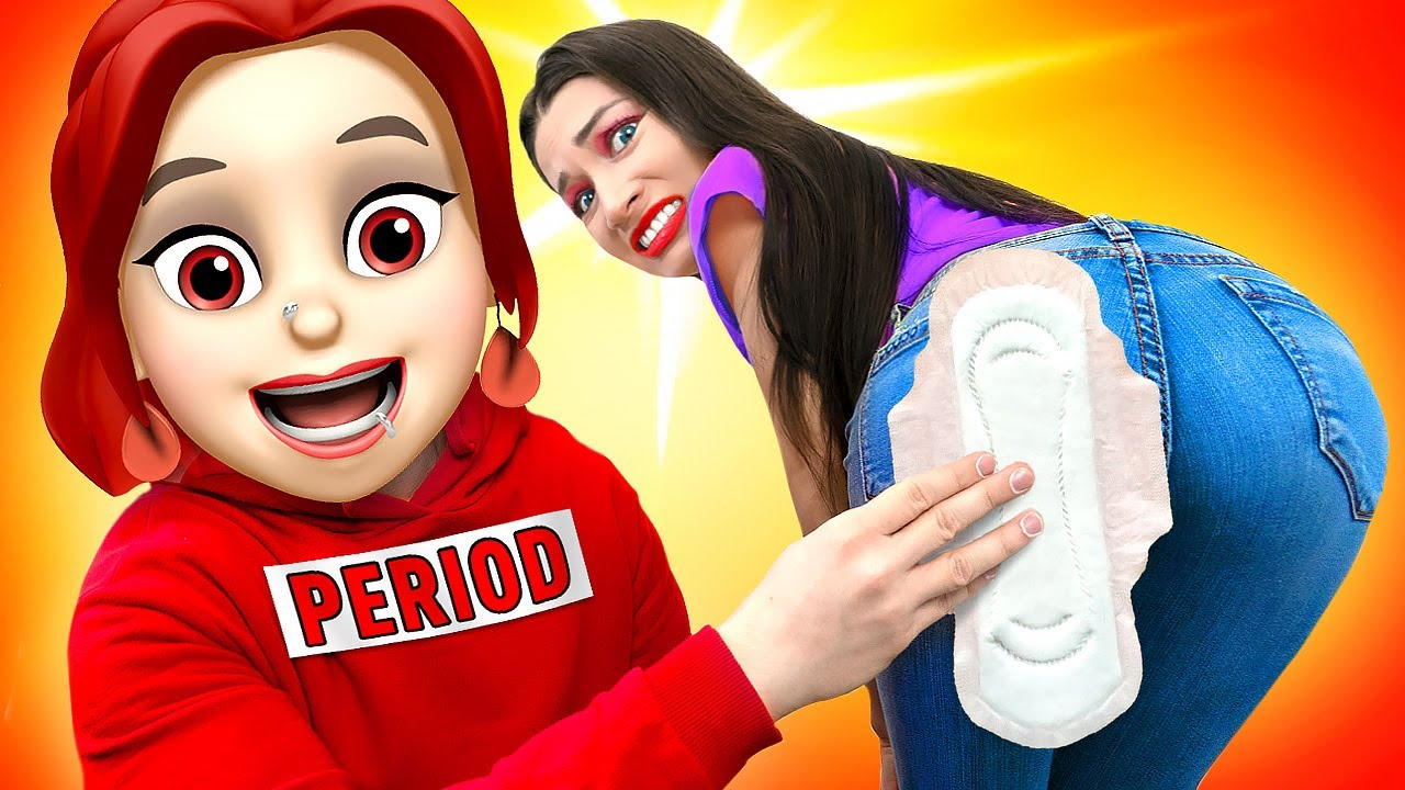 If your PERIOD was a PERSON | Relatable funny musical by La La Life Emoji