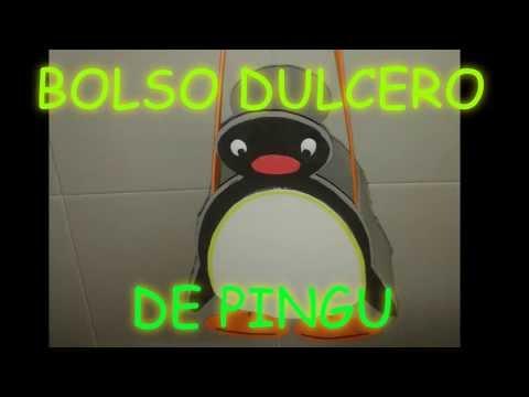 MANUALIDADES: BOLSO O DULCERO DE PINGU MUY ORIGINAL PARA REGALO