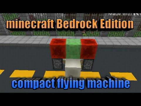 Minecraft Bedrock Edition compact flying machine