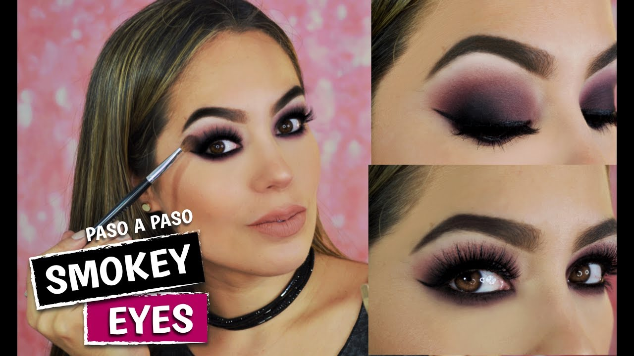 Ojos Ahumados Morado Paso A Paso Maquillaje Smokey Eyes Morado Youtube