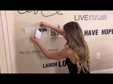 Wall Decals - DIY AFFIRMATIONS WALL DECOR HACK