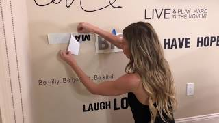 Wall Decals   Diy Affirmations Wall Decor Hack
