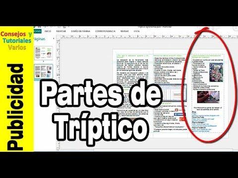 Cómo hacer tríptico (1) Las partes de un tríptico #1
