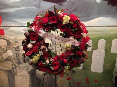 Remembrance Day Service of Commemoration Nanaimo Cenotaph, November 11, 2017