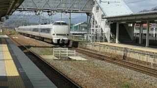 JR西日本 北陸本線 虎姫駅 通過していく 特急しらさぎ  2019 04