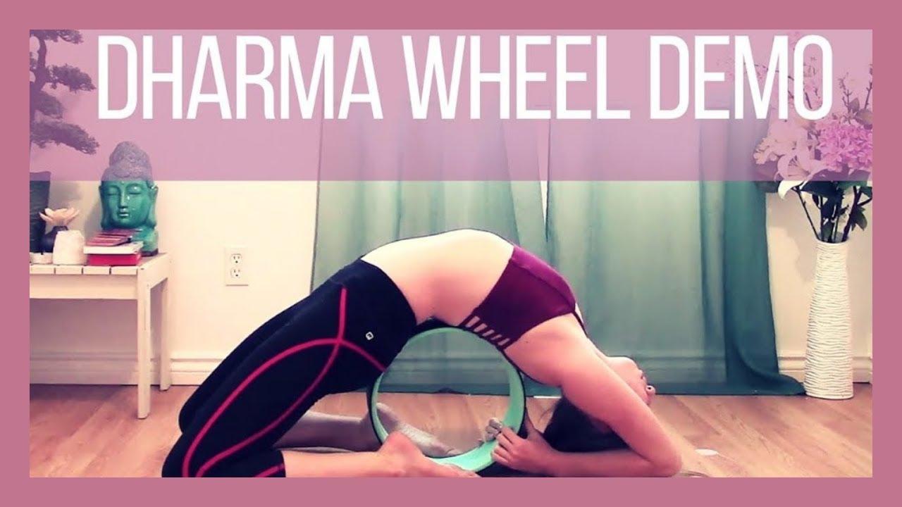 Yoga Wheel Poses Demo - How I Use My Yoga Wheel - YouTube faa8ed8d317