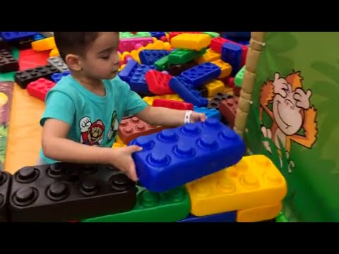 Chinar HAS FUN playing at the Indoor Playground FOR KIDS