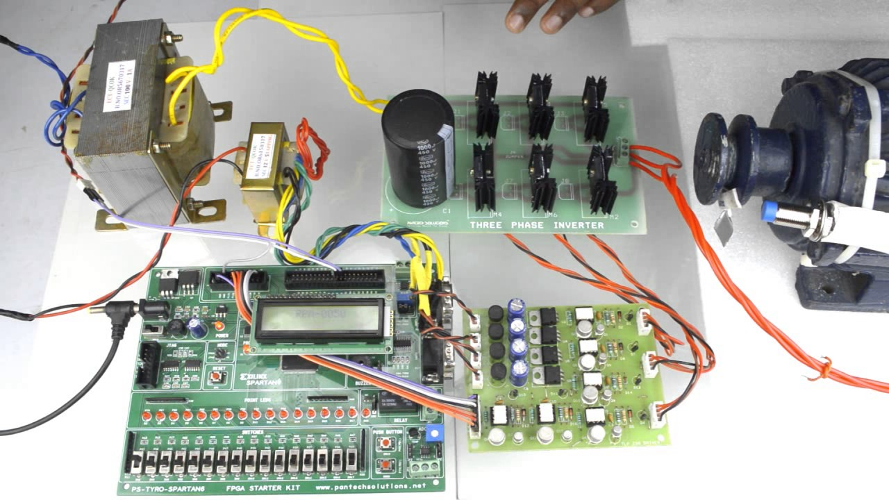 3 Phase Induction Motor Speed Control Using Spartan6 FPGA Project Kit