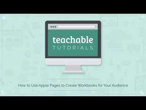 How to Use Apple Pages to Create Editable Workbooks for Your Business or Online Course