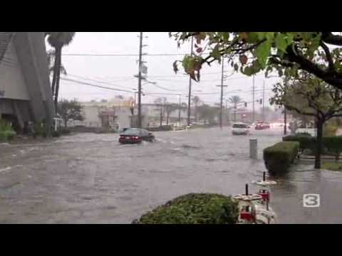 Raw: Costa Mesa Street Flooding