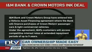 I&M, Crown Motors sign vehicle asset financing partnership