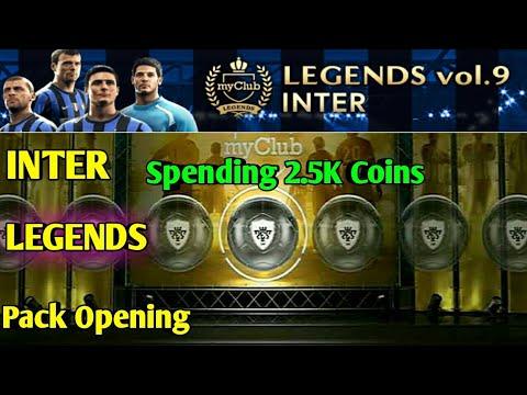LEGENDS vol.9 INTER Pack Opening PES 2018 MOBILE (Spending 2.5K Coins)