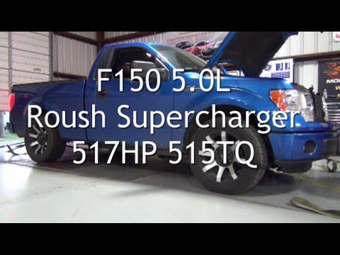 f150 5.0l roush supercharger 517hp 515tq - youtube