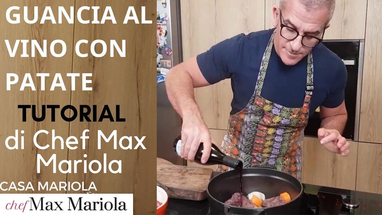 GUANCIA AL VINO ROSSO CON LE PATATE - la video ricetta tutorial di Chef Max Mariola