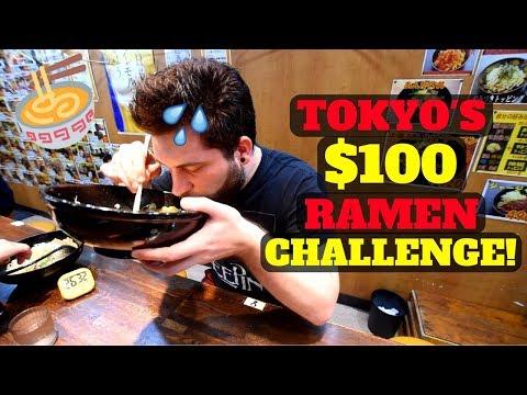 TOKYO'S $100 RAMEN NOODLE CHALLENGE!
