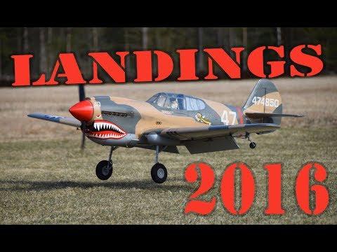 Awesome RC plane Landings 2016