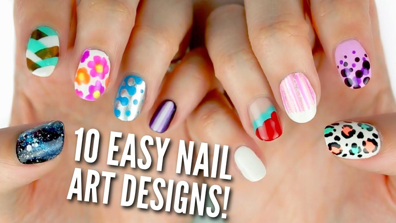 10 easy nail art designs for beginners the ultimate guide youtube prinsesfo Gallery
