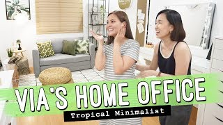 Via Austria's Home Office Makeover // Tropical Minimalist Design // by Elle Uy