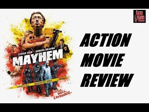 MAYHEM ( 2017 Steven Yeun ) Ultra violence Action Movie Review