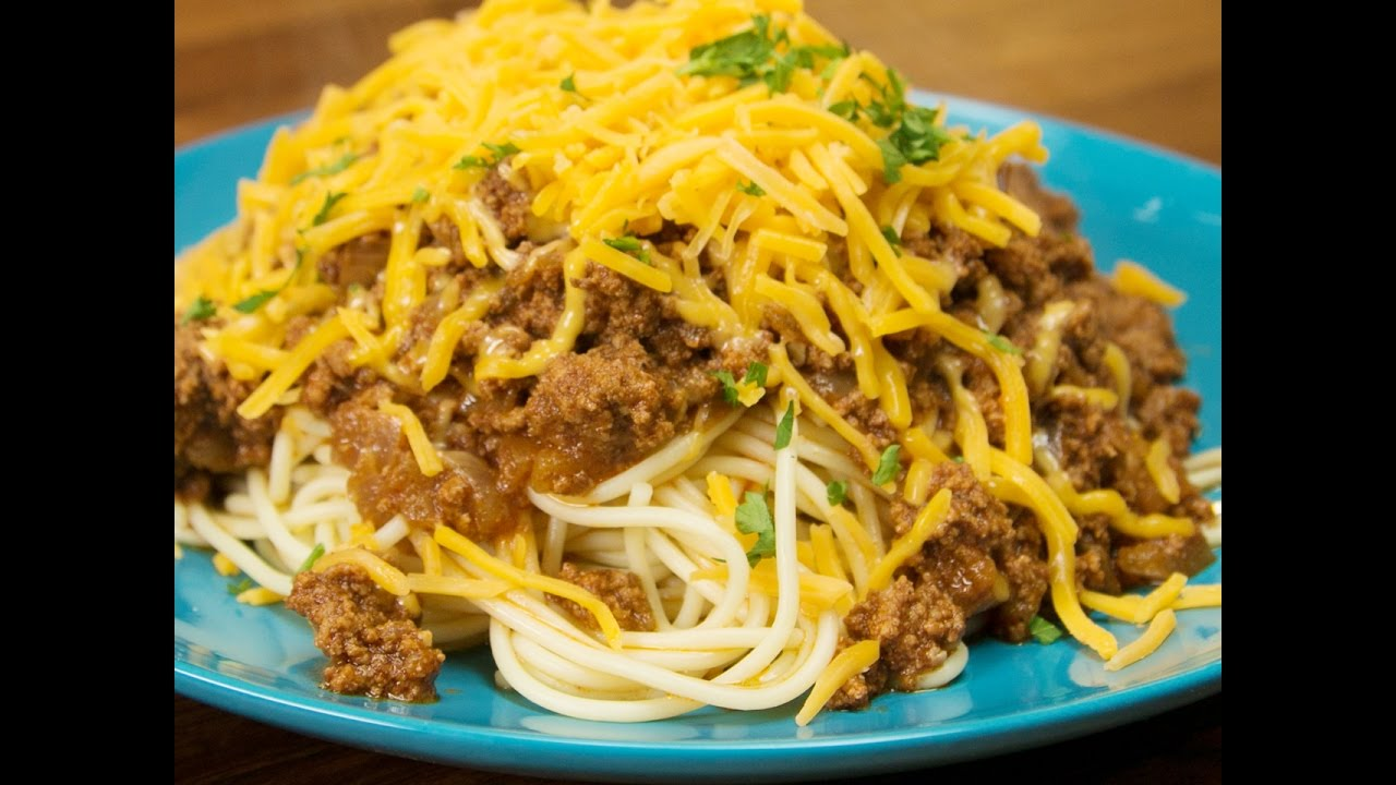 Dad's Awesome Cincinnati Chili Spaghetti (As Made By Chef Nyesha Arrington)