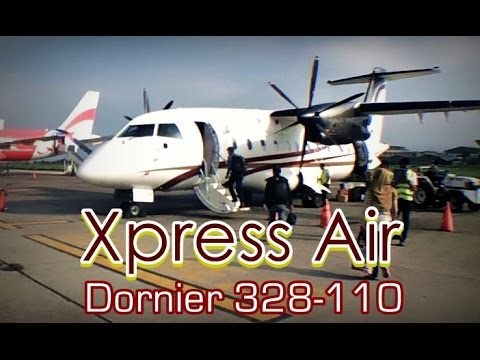 Flight Trip with Xpress Air Dornier 328-110 from Bandung to Lampung