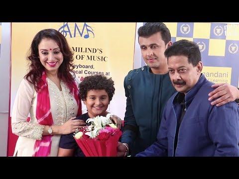Sonu Nigam With Family | Wife Madhurima Nigam And Son Nevaan Nigam