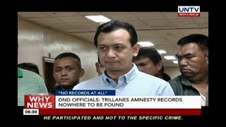 Trillanes amnesty records nowhere to be found — DND officials