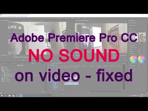 Adobe Premirer Pro CC No Sound on MOV files Fixed