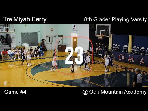 Tre'Miyah Berry 8th Grader Playing Varsity Game 4 @ Oak Mountain Academy 09 Dec 19
