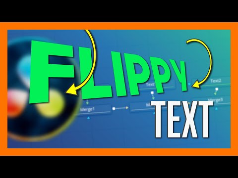 Flip Down Text Graphics in Resolve - Fusion Motion Graphics Tutorial thumbnail