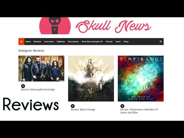 SKULL NEWS new website trailer