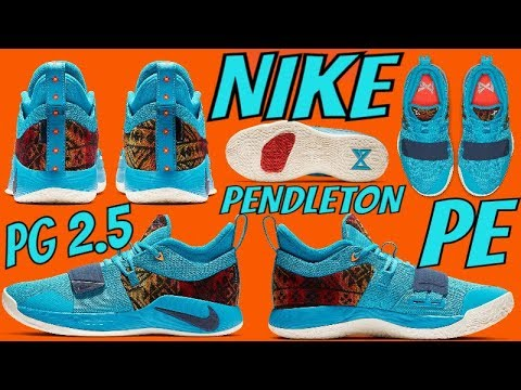 differently ad722 558a1 PAUL GEORGE NIKE PG 2.5 PENDLETON PE TV UNBOXING SNEAKER REVIEW