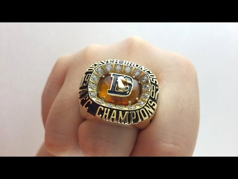 Denver Broncos 1987 AFC Champions Ring Replica