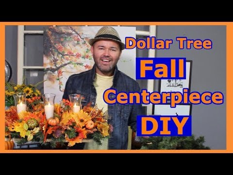 Dollar Tree Fall Centerpiece On A Budget 2018-How to Make a Fall Centerpiece with Dollar Tree Items