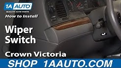 How to Replace Combination Switch 03-11 Ford Crown Victoria