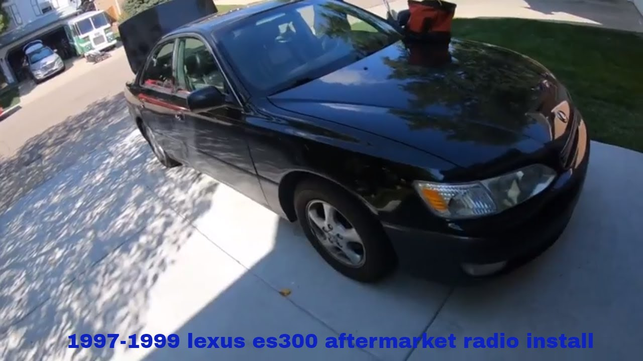 small resolution of 1997 1999 lexus es300 aftermarket radio install