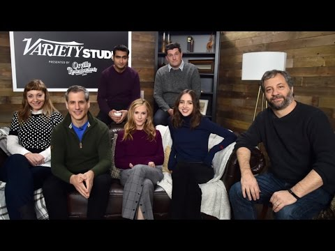 Judd Apatow and Holly Hunter on