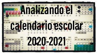 Analizando el calendario escolar 2020-2021