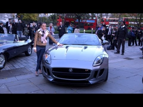 Jessica Ennis & Jaguar F-Type UK debut