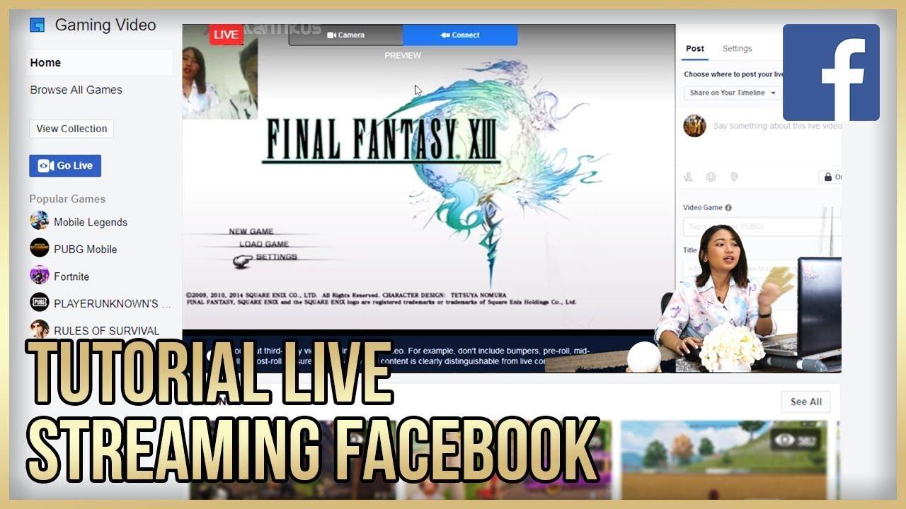 Cara Live Streaming Facebook Di Pc Dan Smartphone Bisa Jadi Jutawan Lho Youtube