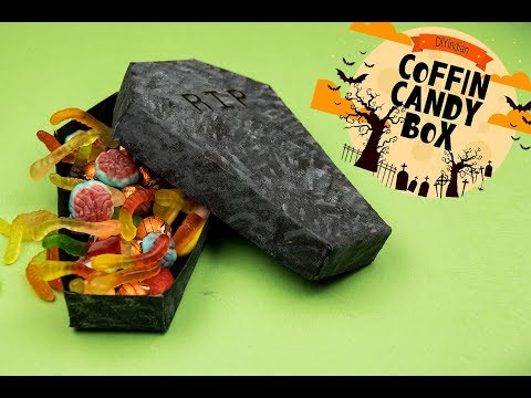 How to make Coffin Box for Halloween | Halloween 2018 | Coffin Candy box  | Halloween Decorations