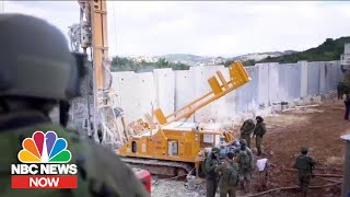 Touring The New Wall On The Israel-Lebanon Border | NBC News Now
