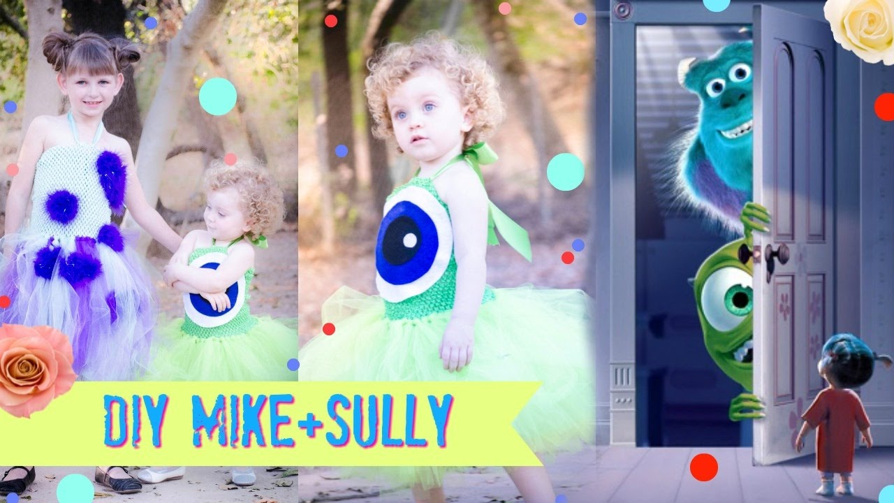 9ba62f87d23e DIY MONSTERS INC Mike and Sully Costume - YouTube