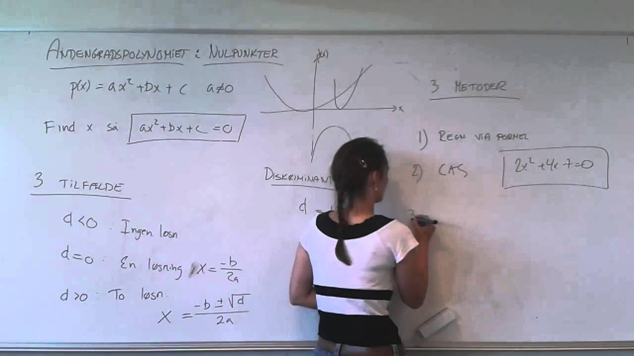 3 metoder til at finde nulpunkterne