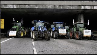 Agriculteurs : blocage du périphérique (27 novembre 2019, Paris) [4K]