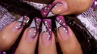 all comments on flashy pink silver crystal nail art. Black Bedroom Furniture Sets. Home Design Ideas