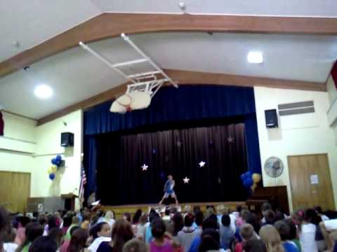jerry at 4th and 5th grade talent show (Abner Gibbs)